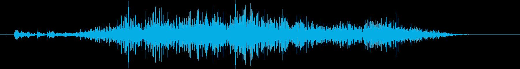 【生録音】テーブルを引っ掻く音 図面 線の再生済みの波形