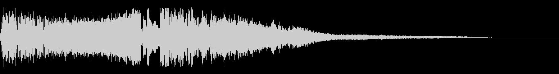 氷魔法の詠唱・発動音の未再生の波形