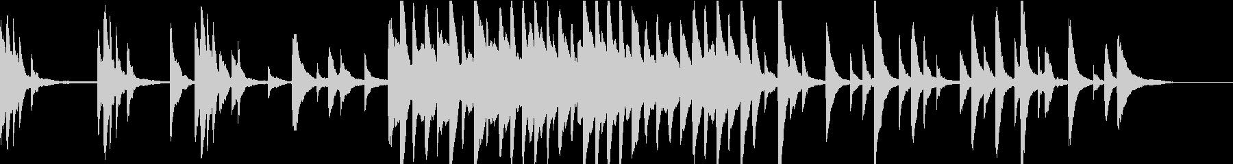 チルアウト 温もりと癒しのピアノ 映像等の未再生の波形
