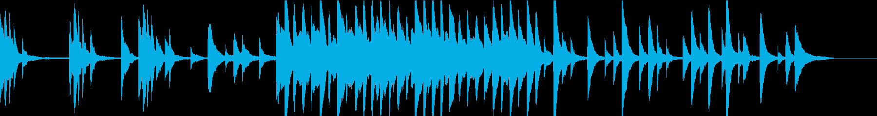 チルアウト 温もりと癒しのピアノ 映像等の再生済みの波形