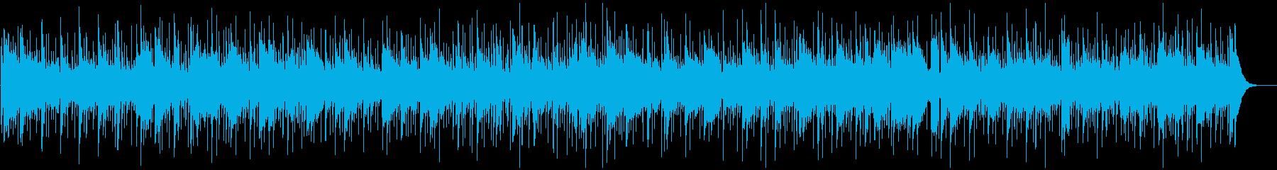 少しせつないマンドリンの音色、フォーク調の再生済みの波形