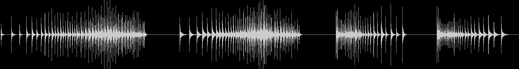 ボンゴ、ドラム、ロール、4バージョ...の未再生の波形