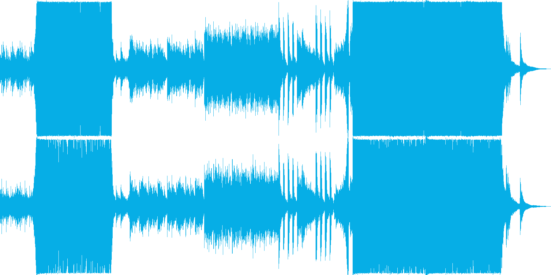 異世界感溢れる壮大な幻想的音ゲー系BGMの再生済みの波形