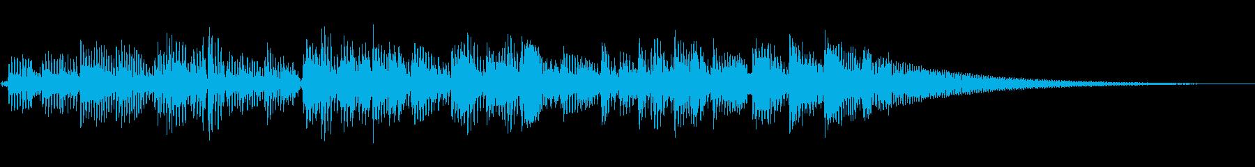 アコースティックギター:低リズムラ...の再生済みの波形