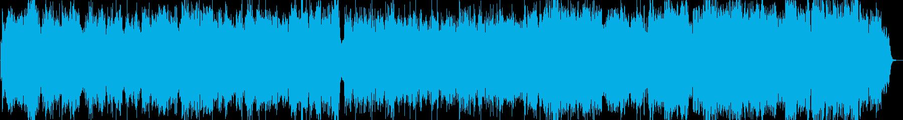 優しい風のような音楽の再生済みの波形