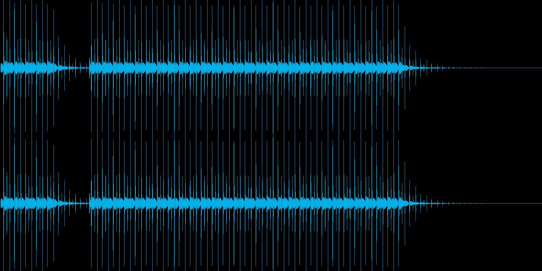 ブブー(クイズの不正解音)の再生済みの波形
