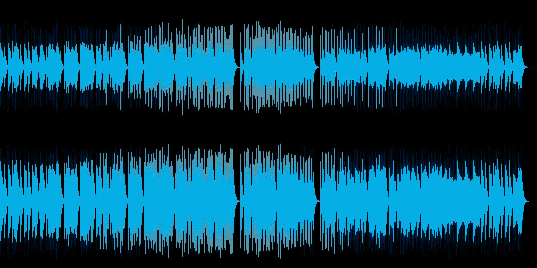 オルゴールで星空イメージの曲 きれいの再生済みの波形