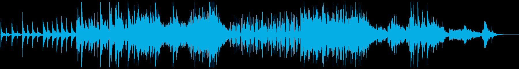 ピアノソロ:「海」第二楽章「波」の再生済みの波形