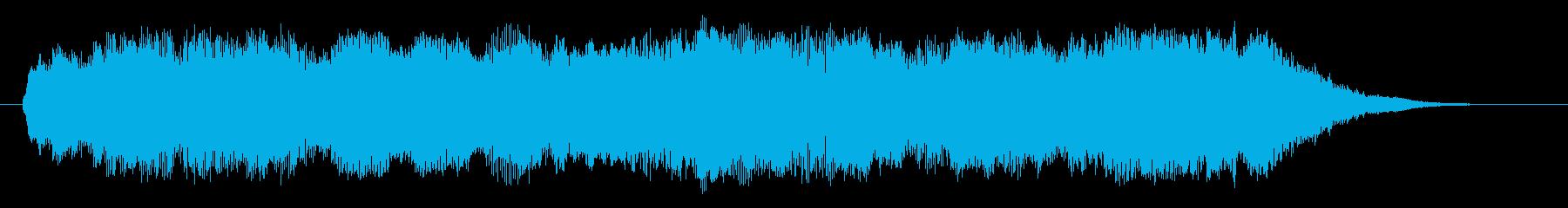切ないシンセサイザーサウンドのインスト曲の再生済みの波形