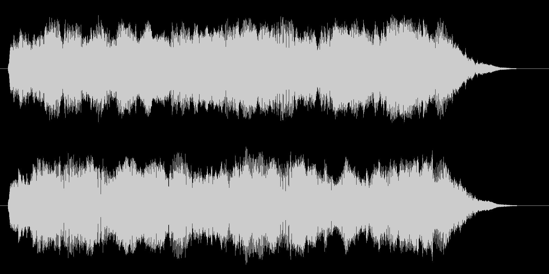 切ないシンセサイザーサウンドのインスト曲の未再生の波形