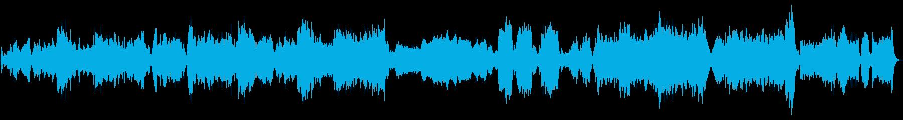 インパクトの強いドラマチックな映像向け曲の再生済みの波形