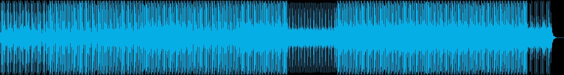 コミカル、シンセ、4つ打ち、ベース、宇宙の再生済みの波形