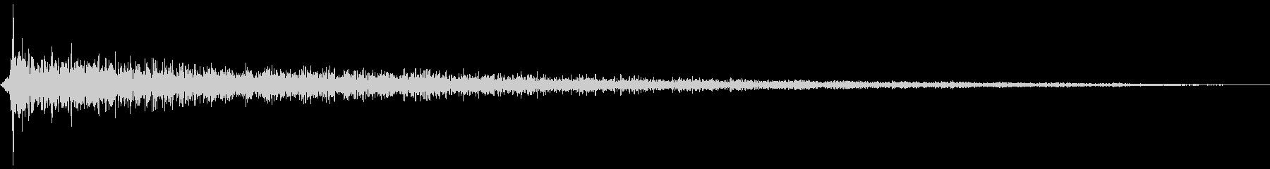 バーン(ピアノをたたく音)の未再生の波形