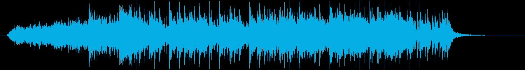 夜のニュースのオープニング風BGMの再生済みの波形