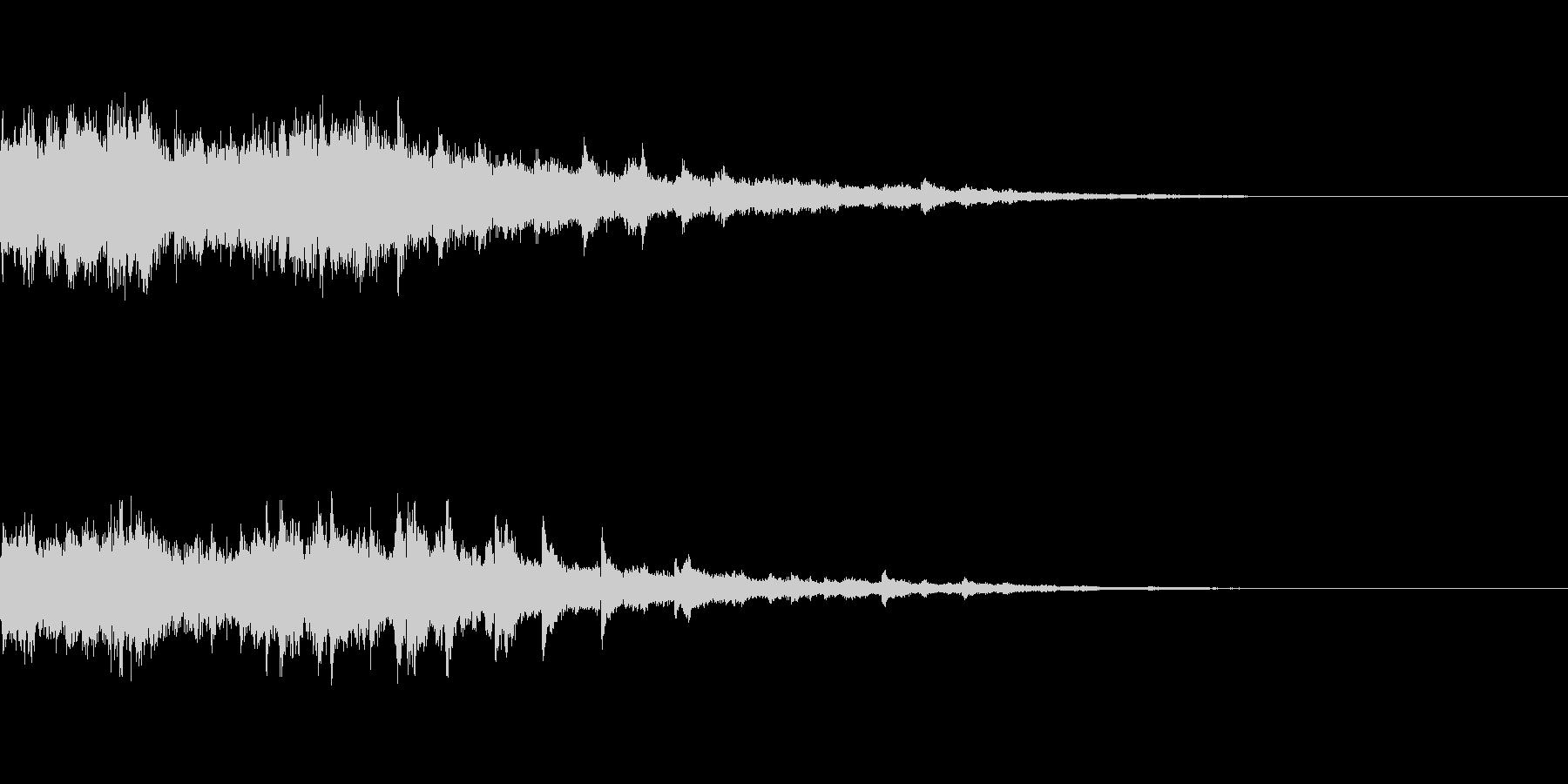 カジノスロット定番トップシンボル音4の未再生の波形
