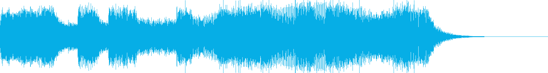 激しいEDMロック・暗い緊張感・ジングルの再生済みの波形