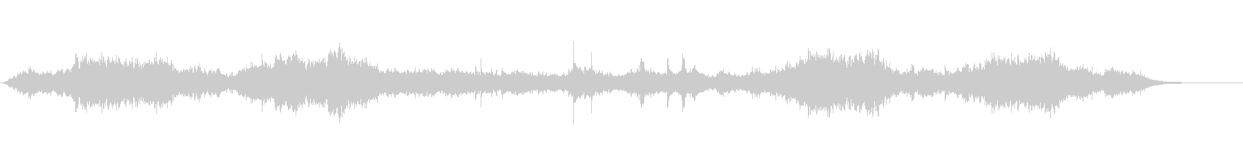 暗く不穏な雰囲気のBGMの未再生の波形