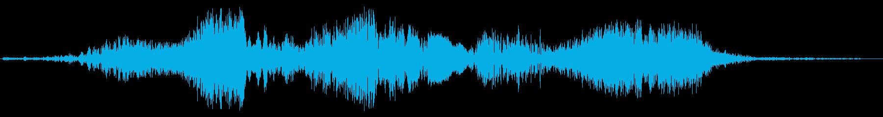 ホワーン(近未来の機械音)の再生済みの波形