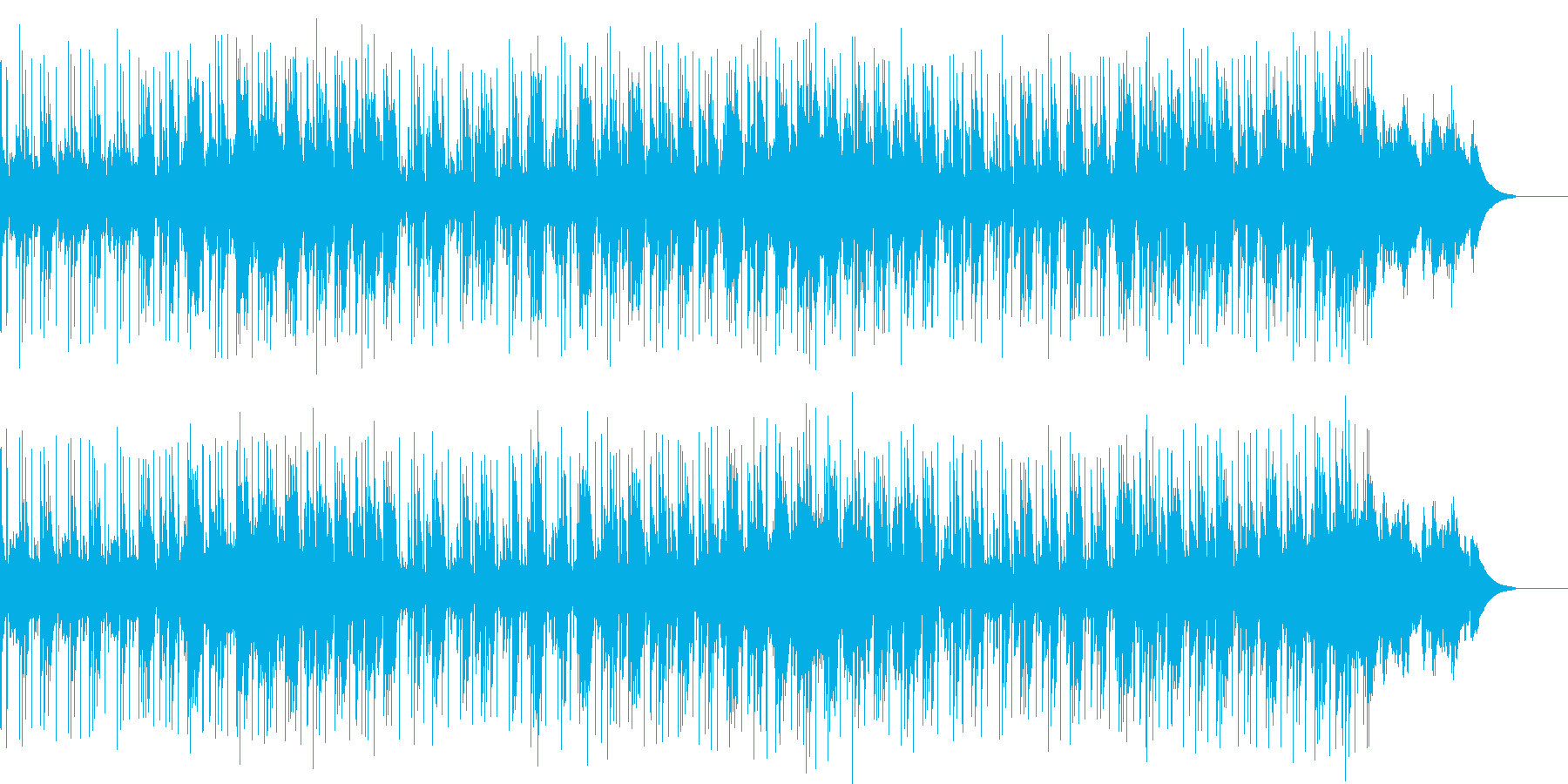 爽やかでテンポの良いインスト音楽の再生済みの波形