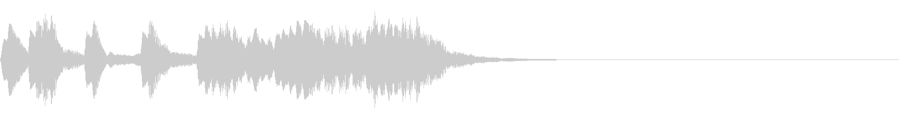 レベルアップ音/かわいいゲーム音【9】の未再生の波形