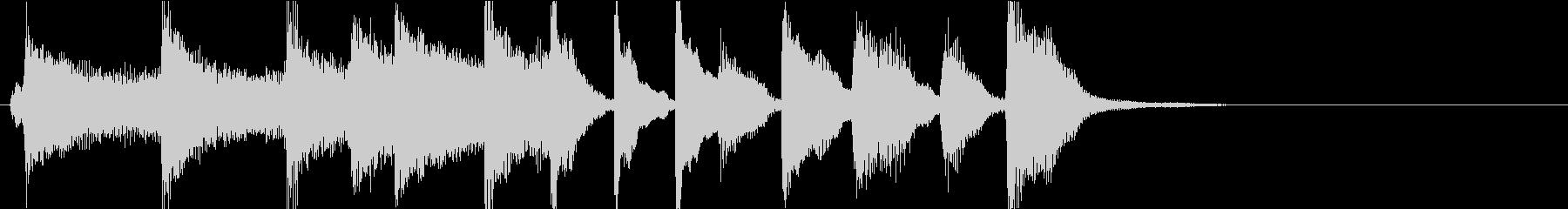はねたリズムで軽快なピアノソロジングルの未再生の波形