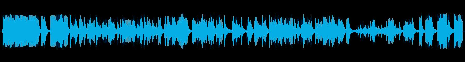大声で叫ぶの再生済みの波形