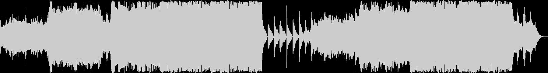 壮大で重厚なエピック音楽 感動シーンの未再生の波形