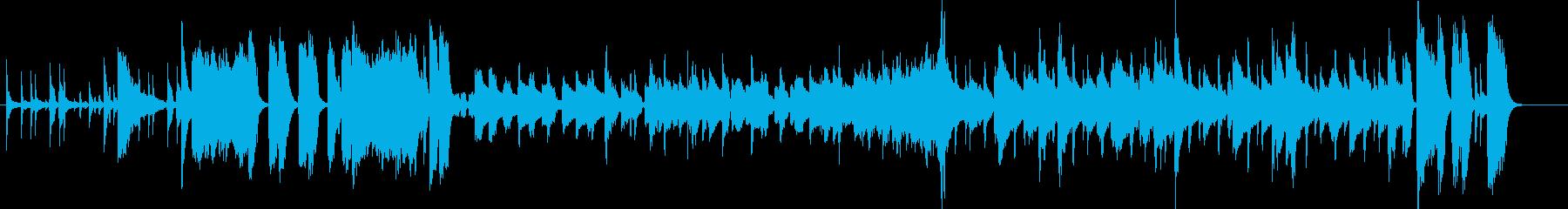 昭和の飲み屋街とサラリーマン描写の再生済みの波形