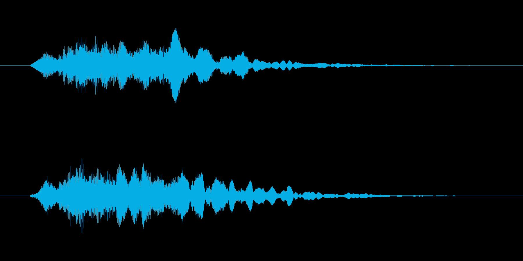 和風で神秘的な効果音ですの再生済みの波形