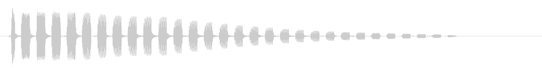 ビヨ〜ン (ゴム質な跳ね返り音)の未再生の波形
