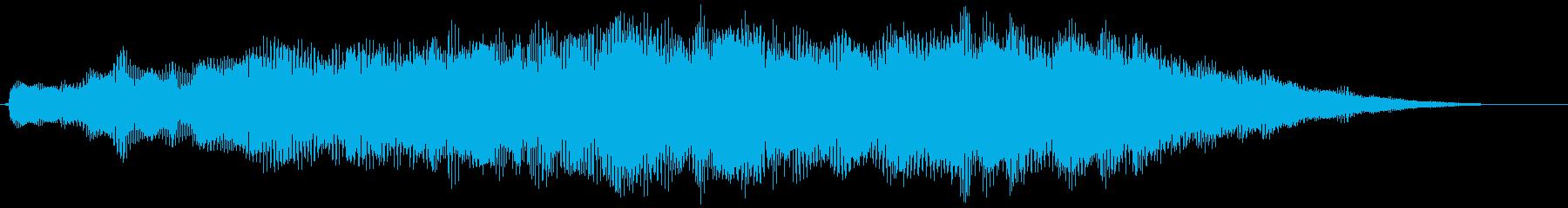ポジティブライジングシンセパッドの再生済みの波形