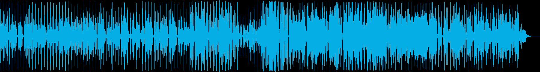 ロックでファンキーな電子音楽の再生済みの波形