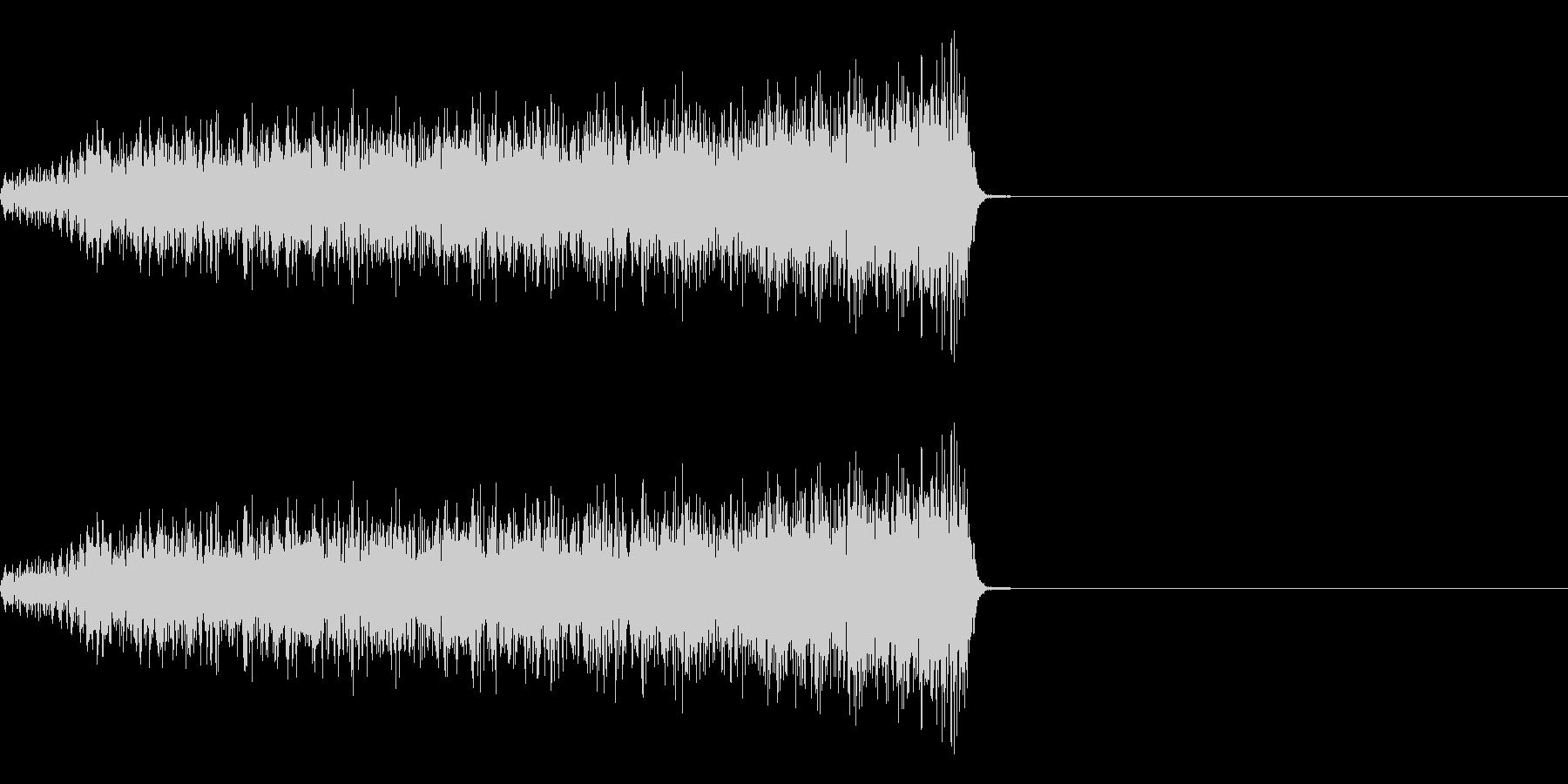 「シュー」という感じのノイズサウンドで…の未再生の波形