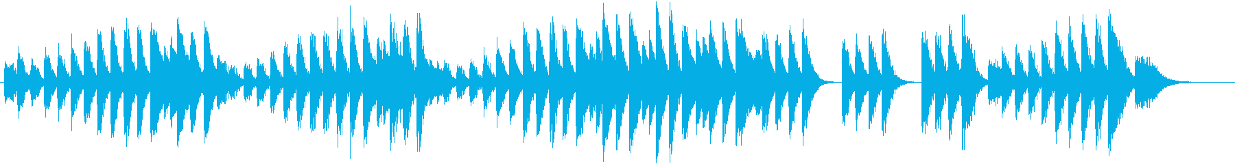 活動的なメロディの陽気な春ピアノジングルの再生済みの波形
