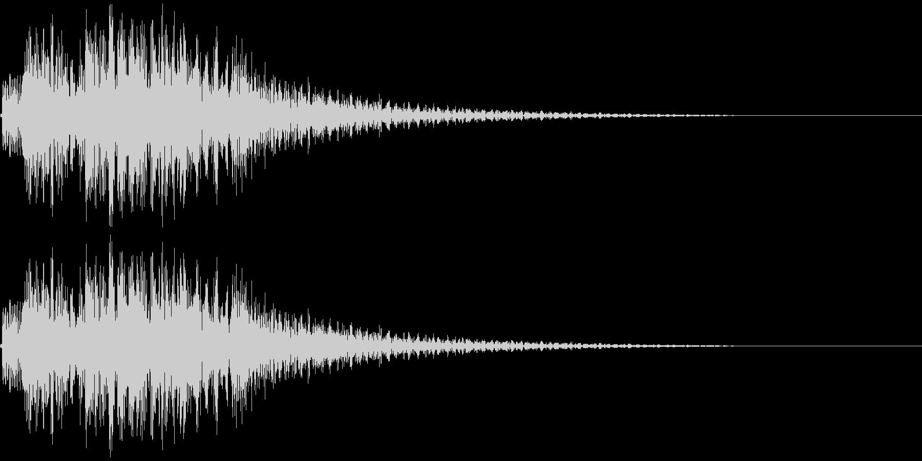 テレレレン↑ 琴 速い上昇の未再生の波形