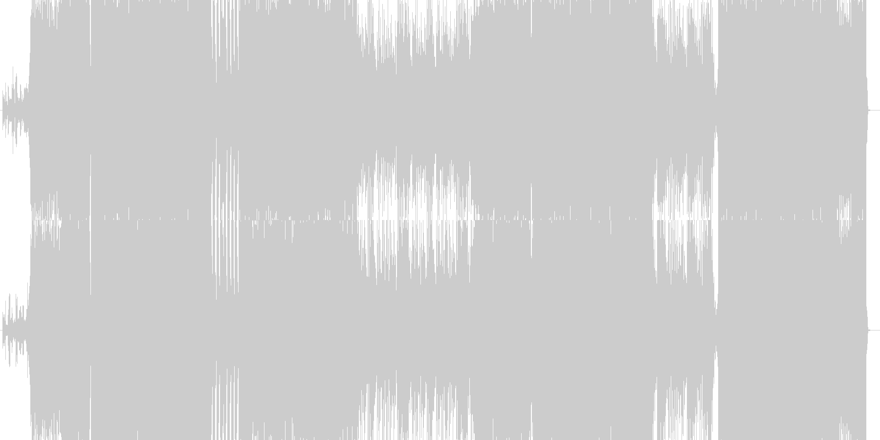 途中でリズムが変わるハードチューンの未再生の波形
