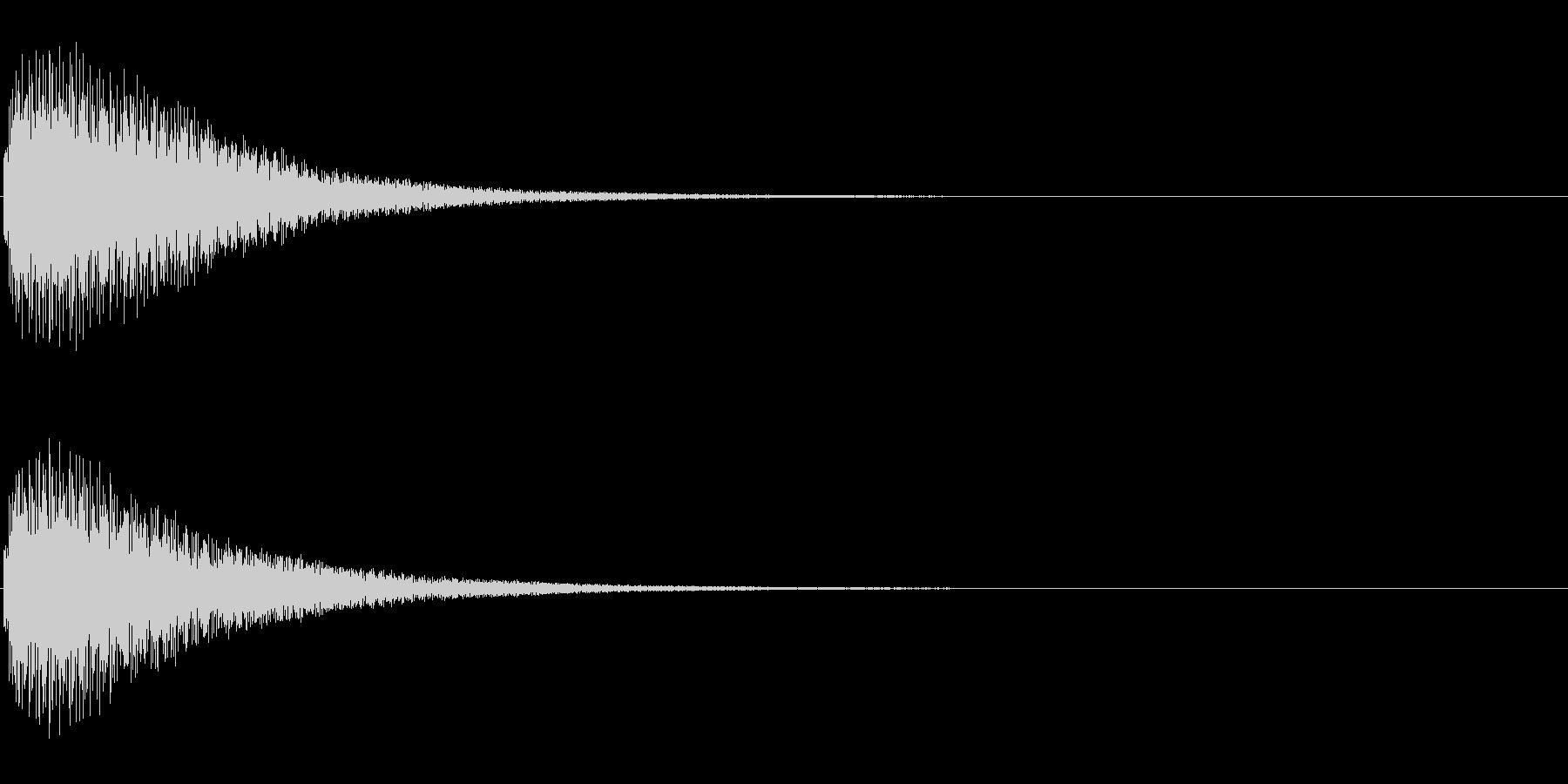 タップ、クリック(シンセボイス系)の未再生の波形