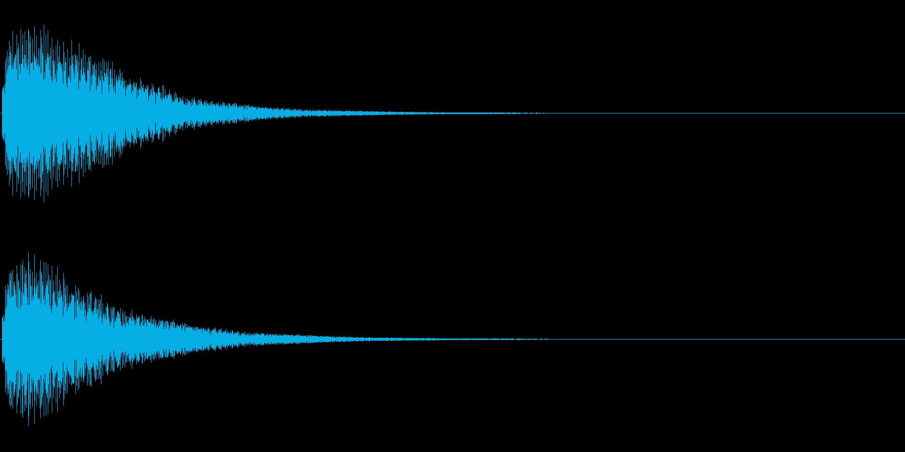 タップ、クリック(シンセボイス系)の再生済みの波形