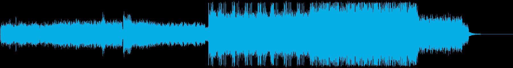 幻想的で疾走感のあるテクスチャーの再生済みの波形