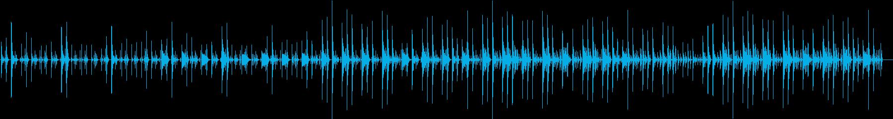 ほのぼのした場面などに使えるシンプルな曲の再生済みの波形