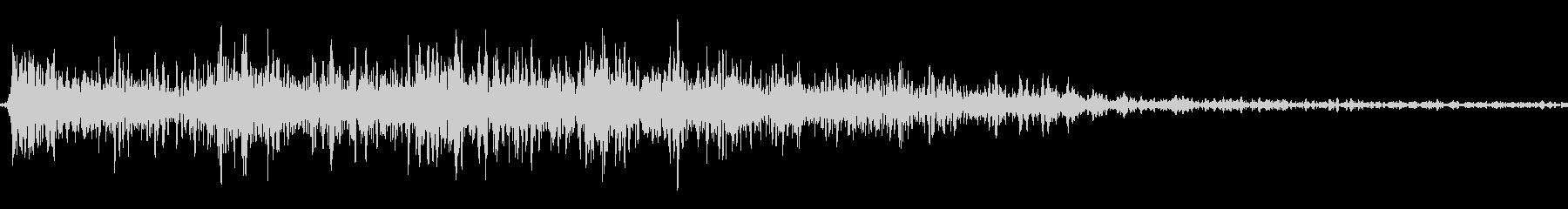 クイズの出題されるときの音の未再生の波形