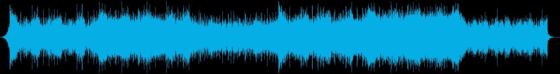壮大でクールなサイバーパンク風BGMの再生済みの波形