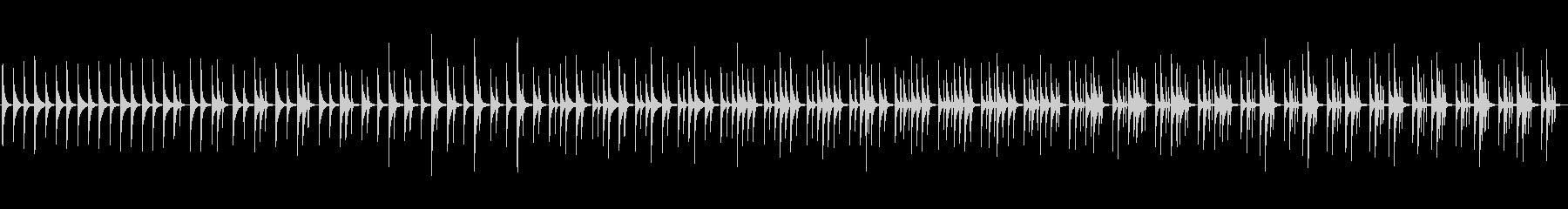 木琴5音階チャイムシンプル型、ミニマルの未再生の波形