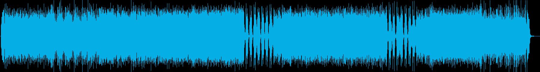 ファンキーなギターサウンドの再生済みの波形