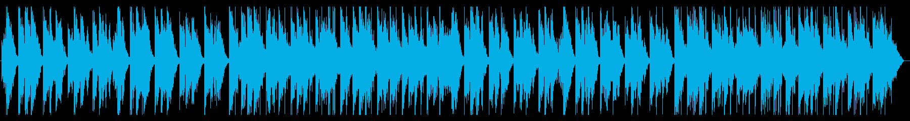 嵐の前の静けさを感じるBGMの再生済みの波形
