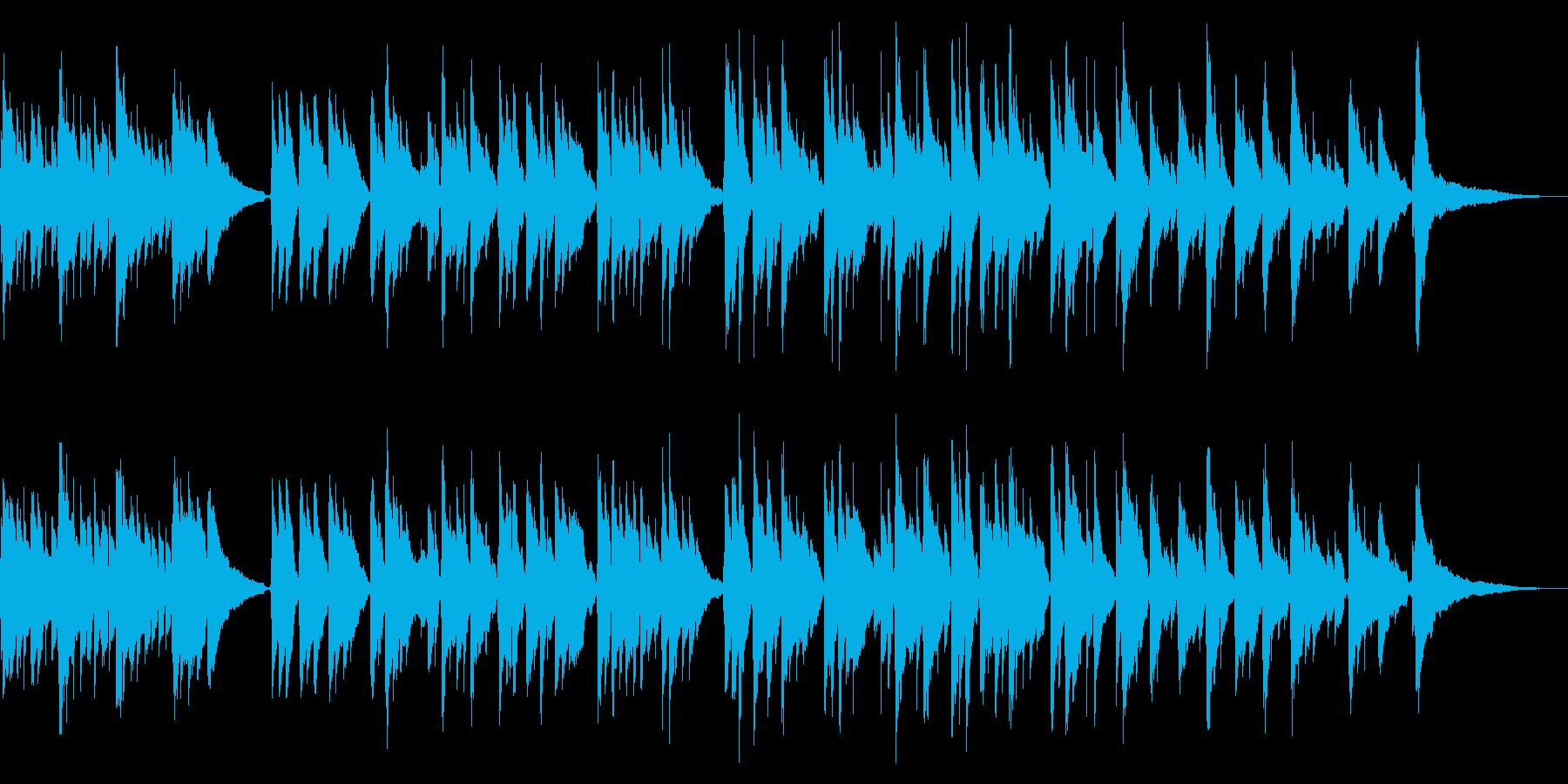 ほのぼのギターによる癒しのバラードの再生済みの波形