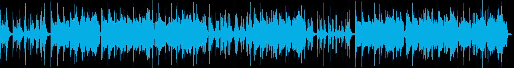 ほのぼのしたバラード音楽の再生済みの波形