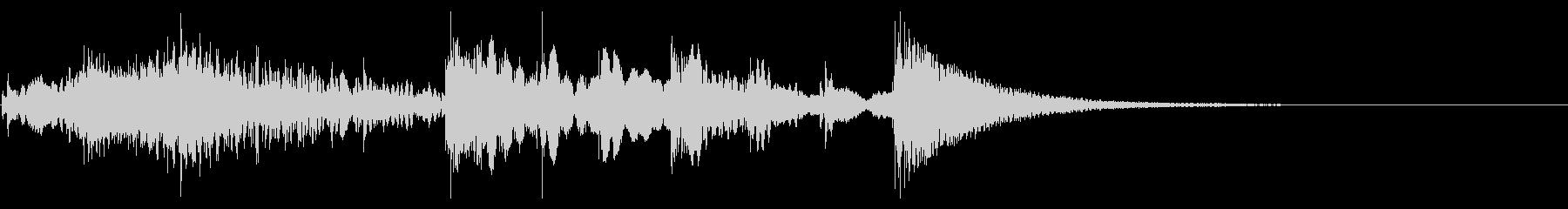マリンバとスライドホイッスルのジングルの未再生の波形