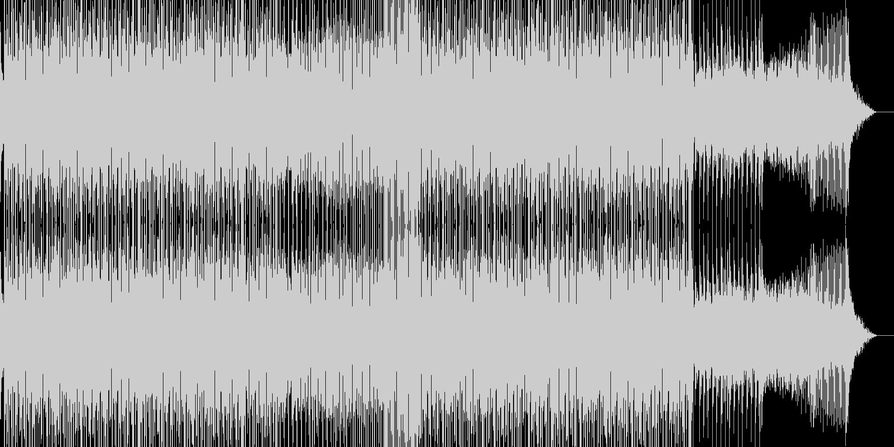 レトロで奇妙な雰囲気のテクノBGMの未再生の波形