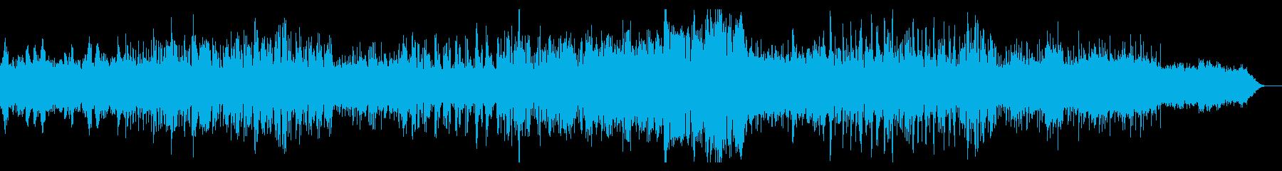 シネマティックなグリッジサウンドスケープの再生済みの波形